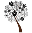 snow tree b vector image vector image