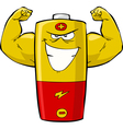 strong battery vector image vector image