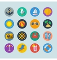 Summer sea holidays icons vector image vector image