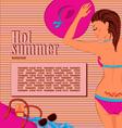Sunbathing girl background vector image vector image