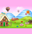 sweet candy land vector image vector image
