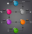 Time line info graphic colored round element vector image vector image