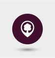 tree location icon simple vector image