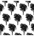 trees pattern texture design vector image vector image