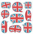uk speech bubbles vector image vector image