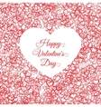 valentines day vintage lettering background with vector image vector image