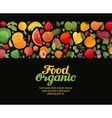 vegetables and fruits organic vector image vector image