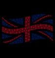 waving great britain flag pattern of star pentacle vector image