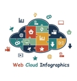Web cloud with media infographics vector image vector image