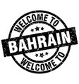 welcome to bahrain black stamp vector image vector image