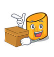 with box rigatoni character cartoon style vector image vector image