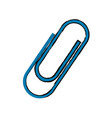 blue clip metal office supply object vector image