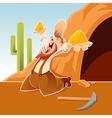 Happy cartoon Prospector vector image