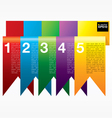 Vertical ribbon banners EPS10 vector image