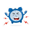 evil angry alarm clock flat vector image