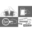 Beer Festival Two-color Poster vector image