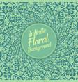 infinite floral background elegant vector image