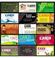 15 colorful business cards set vector image vector image