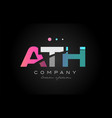 ath a t h three letter logo icon design vector image vector image