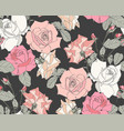 beautiful fabric blooming realistic flowers vector image vector image