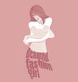 beautiful fashion girl taking off t shirt vector image