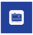 blue round button for crowdfunding funding vector image