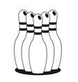 bowling flat vector image vector image