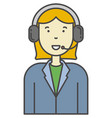 call-centre or technical support operator vector image