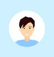 caucasian man face happy portrait on blue vector image