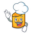 chef rigatoni character cartoon style vector image vector image