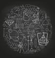 chemistry lab sketch banner vector image vector image