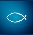 christian fish symbol icon jesus fish symbol vector image vector image