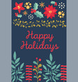 christmas and happy new year colorful floral vector image