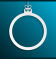 circle christmas tree toy new year frame vector image vector image