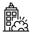 city demolition icon outline style vector image vector image