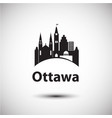city skyline with landmarks ottawa ontario vector image vector image
