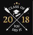 class 2018 badge vector image vector image