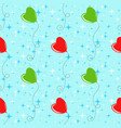 colorful seamless pattern of cute balloons on a vector image