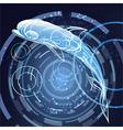 Digital ocean vector image vector image