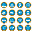 disabled people care set simple style vector image vector image