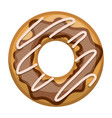 donut with chocolate glazed colorful silhouette in vector image vector image