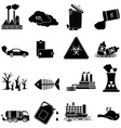 Environment Pollution icons set vector image