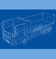 european truck outlined vector image vector image