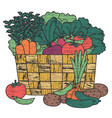 farm produce in a basket