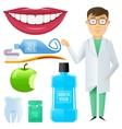 flat dental icon vector image