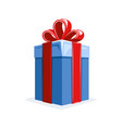 gift box in flat style isolated on white vector image