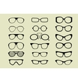 glasses set isolated white background vector image vector image