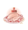 Graphic festive turkey vector image