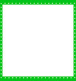 green and white square frame made of animal paw vector image vector image