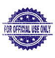 grunge textured for official use only stamp seal vector image